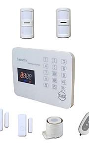lcd système d'alarme GSM sans fil intelligent kit sms alarma de sécurité de la maison pour la maison avec un mini capteur de porte fenêtre