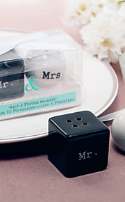 Beter Gifts® Black and & White Couple Pepper Shaker Wedding Favor 8 x 4 x 5 cm/box