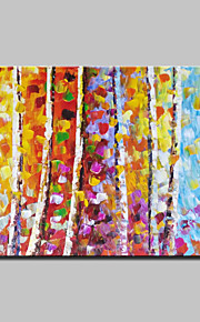 Hand Painted Knife Trees Landscape Oil Paintings On Canvas Modern Wall Art With Stretched Frame Ready To Hang 80x120cm
