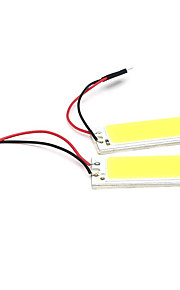 2 stuks auto-accessoires 36 LED SMD cob leidde autopaneel lichte interieur ruimte dome auto gloeilamp lamp wit (12V)