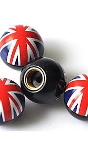 bandera de la tapa unida reino válvula de aire de la válvula cubierta / neumático de coche modificación tapa / válvula de la personalidad