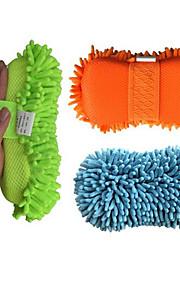 coral esponja de limpieza esponjas de limpieza engrosamiento de la hebilla del coche de los mitones guantes de polvo shan