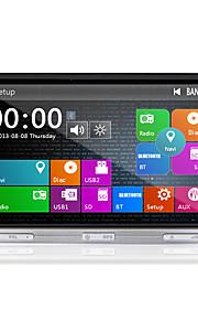 2 din 7 '' universele auto dvd-speler met gps navi stereo radio in het dashboard ingebouwde 3G-wifi bt ipod / iphone swc usb / sd