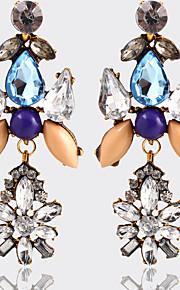 Forme Géométrique,Bijoux 1 paire Vintage / A la Mode Doré / Blanc / Bleu Cristal / Strass / Plaqué orMariage / Soirée / Quotidien /