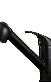 아트 데코/레트로 / 우아한 주방,욕조수전(Centerset) 자동 온도 조절 / 와이드를 분무 / 핸드샤워 포함 / 센서 타입 / 풀아웃 스프레이 / 회전 with  브라스 발브 싱글 핸들 하나의 구멍 for  피치 , 욕조 수전 / 욕실 싱크