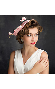 Women's Lace / Feather / Tulle / Flax / Net Headpiece-Special Occasion Fascinators 1 Piece Clear Irregular 25