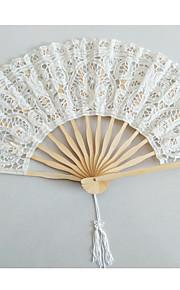 Noble Graceful Cotton Heart Flower Edge Fan