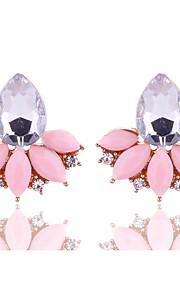 New Arrival Summer 2016 Women Fashion Jewelry Cute Pink Stud Earrings Rhinestone Crystal Earrings for Women