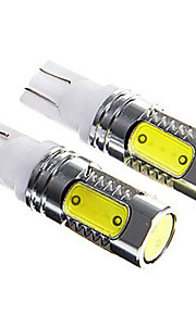2pcs auto del coche luz T10 7.5W cuña del bulbo de xenón de luz LED (12V CC)