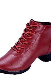 Для женщин-Кожа-Не персонализируемая(Черный / Красный) -Танцевальные кроссовки / Модерн