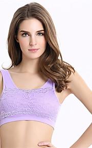 No Rims Lace Vest Shockproof Stationary Sports Bra Breastfeeding Racerback Wireless Underwear
