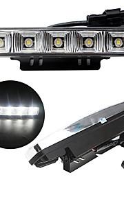 2pcs 2x5W 5Led luz de color blanco 6000k 100% resistente al agua de alta calidad de la luz de marcha diurna