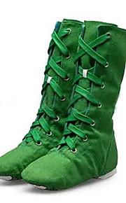 Sapatos de Dança(Preto / Verde / Vermelho / Branco) -Feminino-Personalizável-Jazz / Tênis de Dança