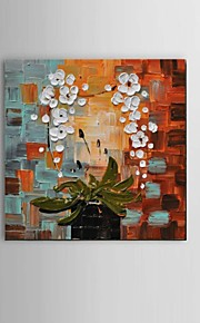 Hand-Painted Modern Thick Flower Oil Painting On Canvas living room Restaurant Decor With Frame Ready To Hang