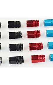 aluminiumslegering bil luftventil cap, bil ventilhætten ventil, core dæk køretøj ventil dyse