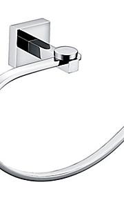 accesorios de baño toallero de barra de latón de montaje en pared de cromo anillo de toalla