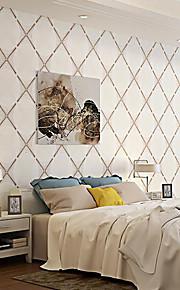 Simple Geometric Striped Tiles Modern Wallpaper 3D Living Room Sofa Home Decor Natural Fiber Wallpapers