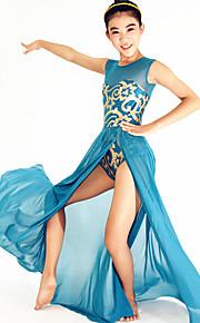 Ballet Dancewear Adults' Children's Floral Sequined Maxi Dancing Dress Modern Dance Lyrical Dress