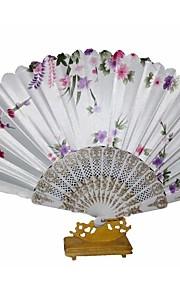 The Pretty Floral Waved Hand Fan  Random Pattern  (Set of 4)