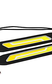 Jiawen wit + geel licht 6-cob leidde 400LM auto dagrijlichten (dc 12v / 2 stuks)