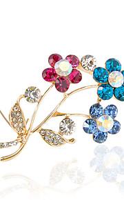 Broche cristal à la mode des femmes pour la fête de mariage décontracté quotidienne, bijoux