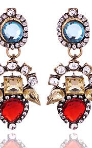 Forme Géométrique,Bijoux 1 paire Vintage Beige / Rouge / Incarnadin Cristal / Alliage / Plaqué or Mariage / Soirée