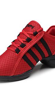 Sapatos de Dança(Preto / Vermelho / Branco) -Feminino-Não Personalizável-Botas de dança