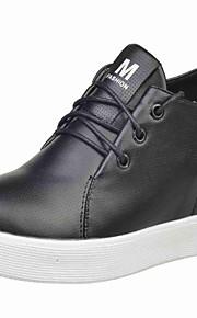 Women's Heels Summer / Fall Wedges / Round Toe PU Office & Career / Casual Wedge Heel  Black / White Others