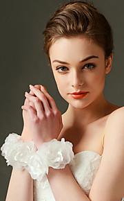 ウェディングブーケ ラウンド型 バラ リストブーケ 結婚式 / パーティー ・夜 サテン / チュール / タフタ / オーガンザ 6.3inch(約16cm)