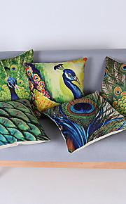 "Modern Style Cotton/Linen Pillow Case 17"" by 17"" Animal Pattern"