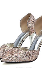 Homme-Mariage / Habillé / Soirée & Evénement-Rouge / Argent / Or-Talon Aiguille-Talons-Chaussures à Talons-Similicuir
