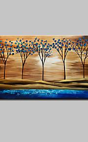 Hånd-malede Abstrakt / Landskab / Blomstret/Botanisk / Abstrakt Landskab Oliemalerier,Moderne Et Panel Canvas Hang-Painted Oliemaleri For