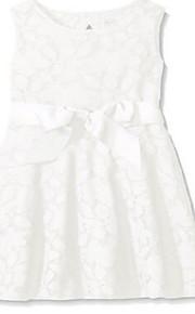 Fourreau / Colonne Mi-long Robe de Demoiselle d'Honneur Fille - Dentelle Sans Manches Bijoux avec Dentelle / Ceinture / Ruban