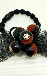 Veli da sposa 1 strato Accessori per capelli con velo Bordo in perle Tulle Bianco / Nero / Rosso