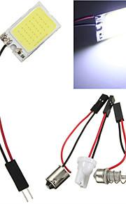 10st 18 led cob chip witte auto auto lichtpaneel interieur lezing kaart lamp BA9S Festoen Dome (12V)