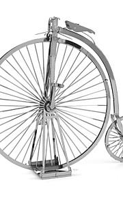 Rompecabezas juguete de la novedad Bloques de construcción Juguetes de bricolaje Bicicleta 1 Metal Plata juguete de la novedad