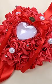 Rose Hang Style Heart Shape Ring Pillow