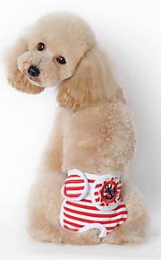 Собаки Футболка / Пижамы Красный / Синий / Черный Одежда для собак Лето / Весна/осень Полоски На каждый день /