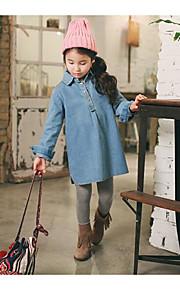 Mädchen Jeans-Lässig/Alltäglich einfarbig Baumwolle Frühling / Herbst Blau