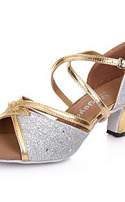 Sapatos de Dança(Preto / Azul / Prateado / Dourado) -Feminino-Não Personalizável-Latina / Moderna