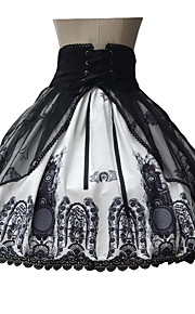 Søt Lolita الالتفاف Ærmeløs Medium Lengde Sort Lolita Dress Terylene
