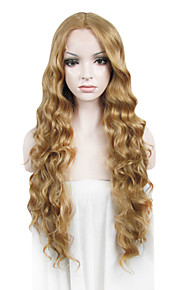 IMSTYLE 26Heavy Density Long Curly Mix Blonde Synthetic Lace Front Wig Cheap