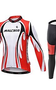 Спорт® Велоспорт Сжатие костюм / Велоспорт Колготки / Джерси + велобрюки Муж. Длинные рукаваДышащий / Высокаявоздухопроницаемость(>15