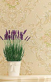 Damas / Rayure / 3D Fond d'écran pour la maison Contemporain Revêtement , Tissu Non-Tissé Matériel adhésif requis fond d'écran , Chambre