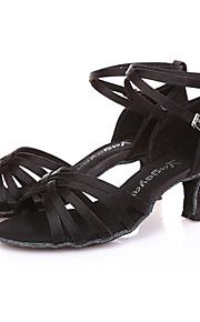 Sapatos de Dança(Preto / Azul / Dourado / Leopardo) -Feminino-Não Personalizável-Latina / Moderna