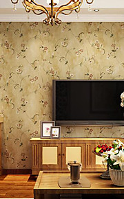 American Country Vintage Flower Wallpaper Roll Bedroom Living Room Nature Floral Paper Wall Decor Wallpapers