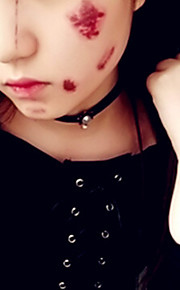 5pcs Halloween Bloody Bleeding Scary Scars Waterproof Temporary Tattoo Stickers for Practical Jokes