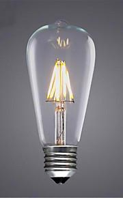 8W E26/E27 Ampoules à Filament LED ST64 8 SMD 5730 580 lm Blanc Chaud / Blanc Froid / Jaune Décorative V 1 pièce