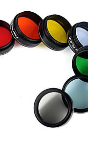 nyeste 1,25 okular filter kit 6 farvede planetariske&1 måne filtre tilbehør til enhver 31.7mm teleskop