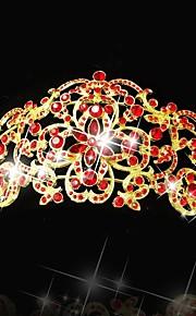 Véus de Noiva Uma Camada Peça para Cabeça com Véu Corte da borda Cetim Prateado / Dourado